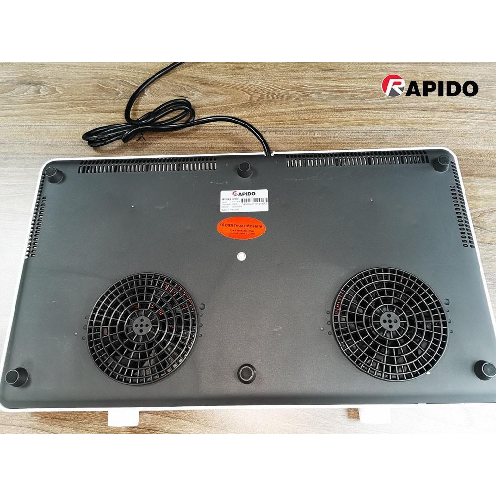 Bếp điện từ đôi dương Rapido RI3000KP công suất 3000W - Hàng chính hãng