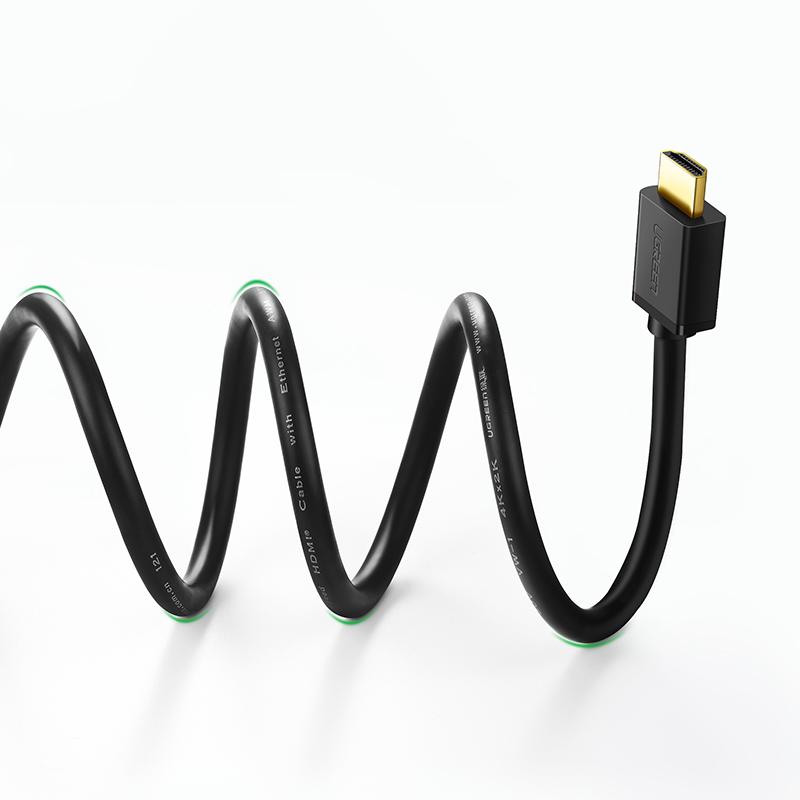 Dây HDMI 1.4 thuần đồng 19+1 Dài 12M UGREEN HD104 10179 - Hàng chính hãng