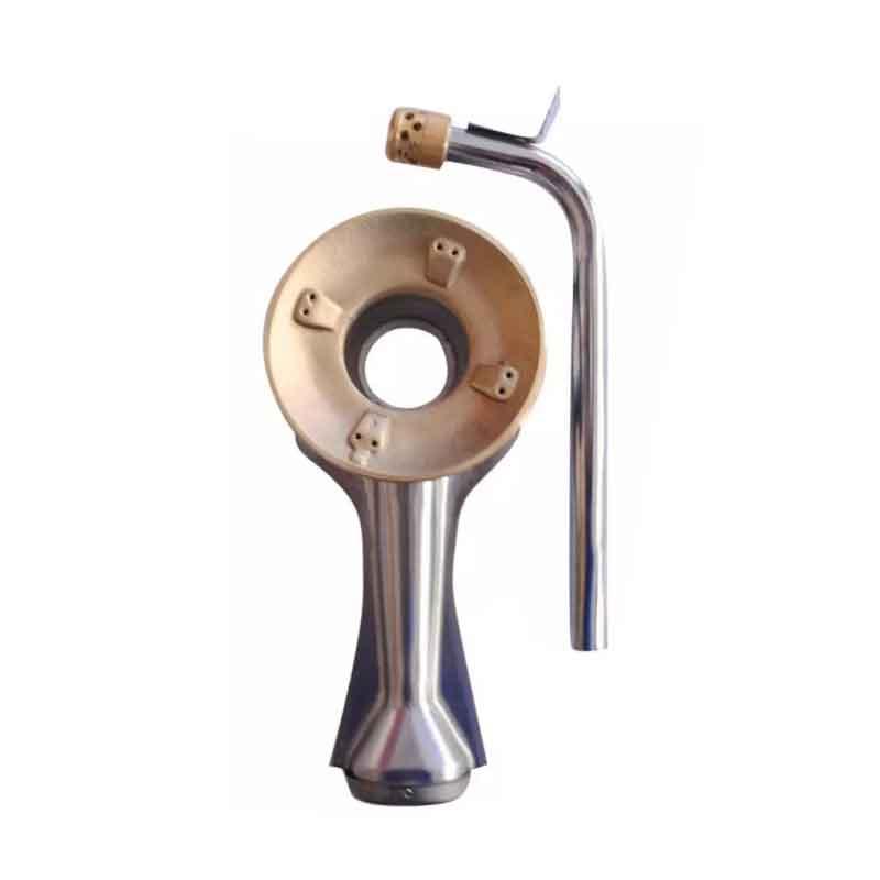 Bộ điếu inox, sen đồng, đầu hâm, sử dụng cho các dòng bếp gas Rinnai ( bên lớn )