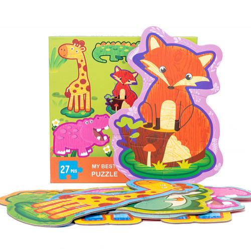 Đồ Chơi Lắp Ghép Cho Bé My Best Puzzle - Động Vật Rừng 27 Chi Tiết (Từ 2-4 tuổi)