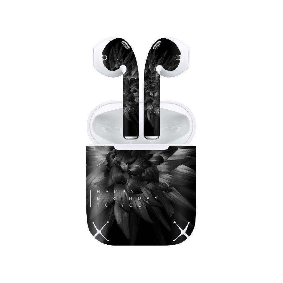 Miếng dán skin chống bẩn cho tai nghe AirPods in hình thiết kế - atk342 (bản không dây 1 và 2)