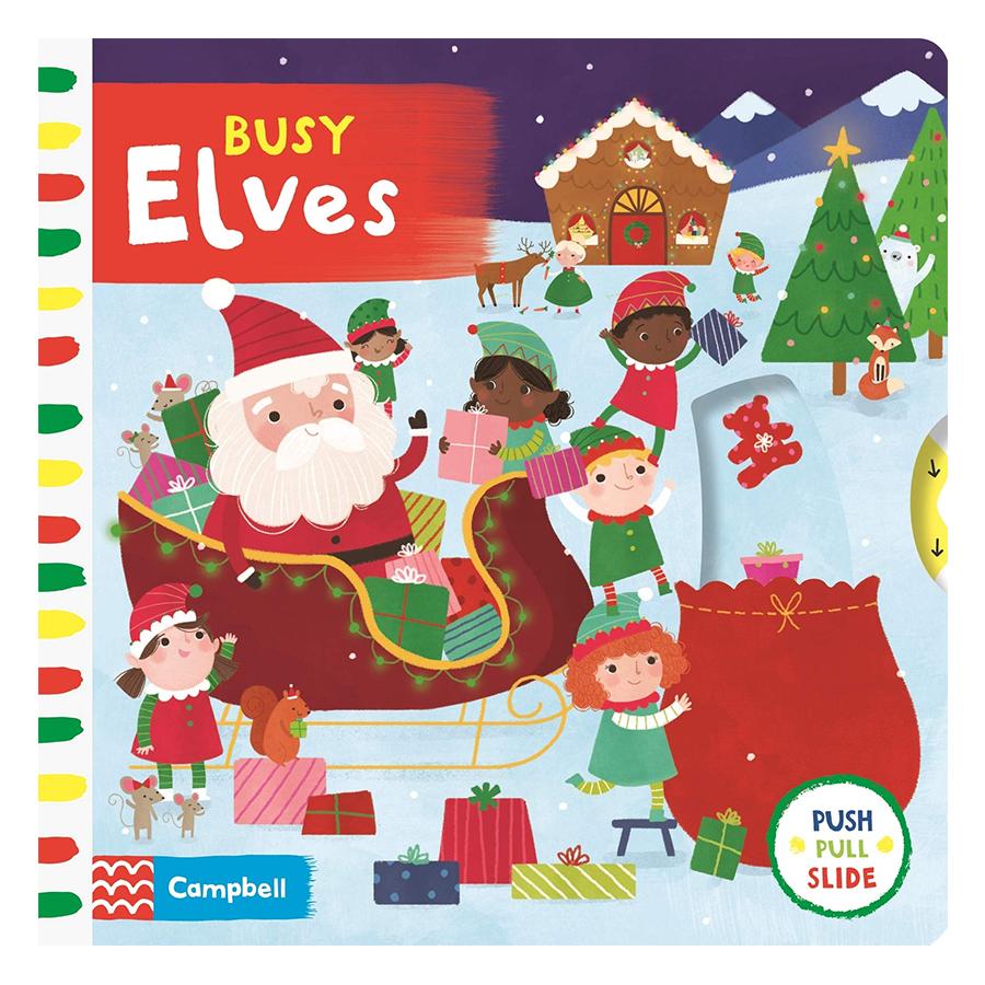 Cambell Fush Full Slide Series: Busy Elves (Christmas books)