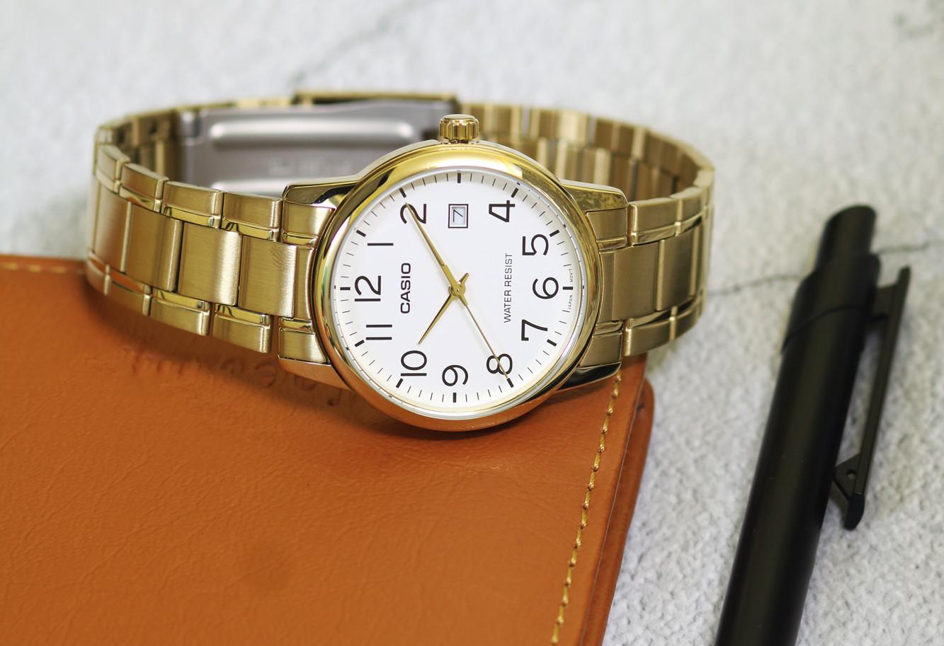 Đồng hồ nam dây kim loại Casio MTP-V002G-7B2UDF