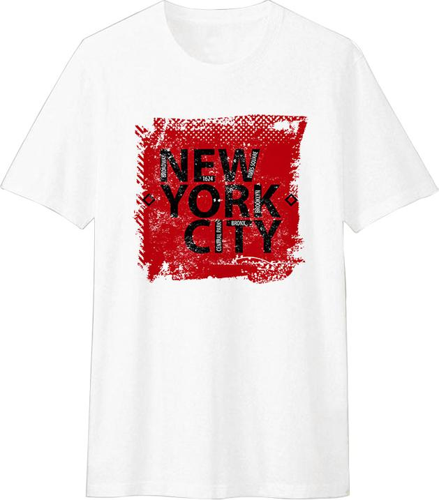Áo Thun T-shirt Unisex Dotilo New York City HM003 - Trắng Size XXS