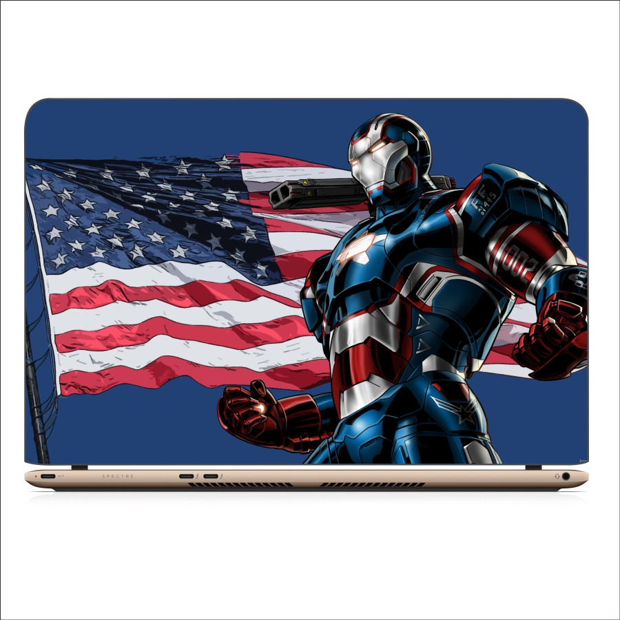 Miếng Dán Skin In Decal Dành Cho Laptop - Iron man 3 - 17 inch - Mặt trước  bàn phím