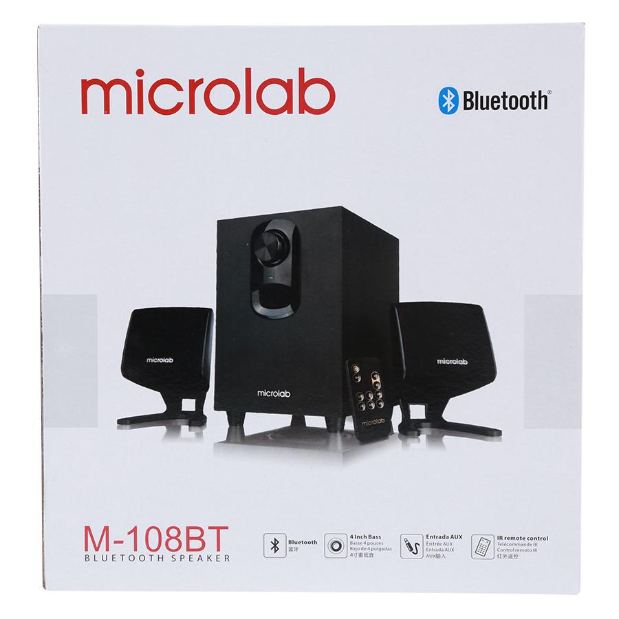 Loa Bluetooth Microlab M108-BT - Hàng Chính Hãng