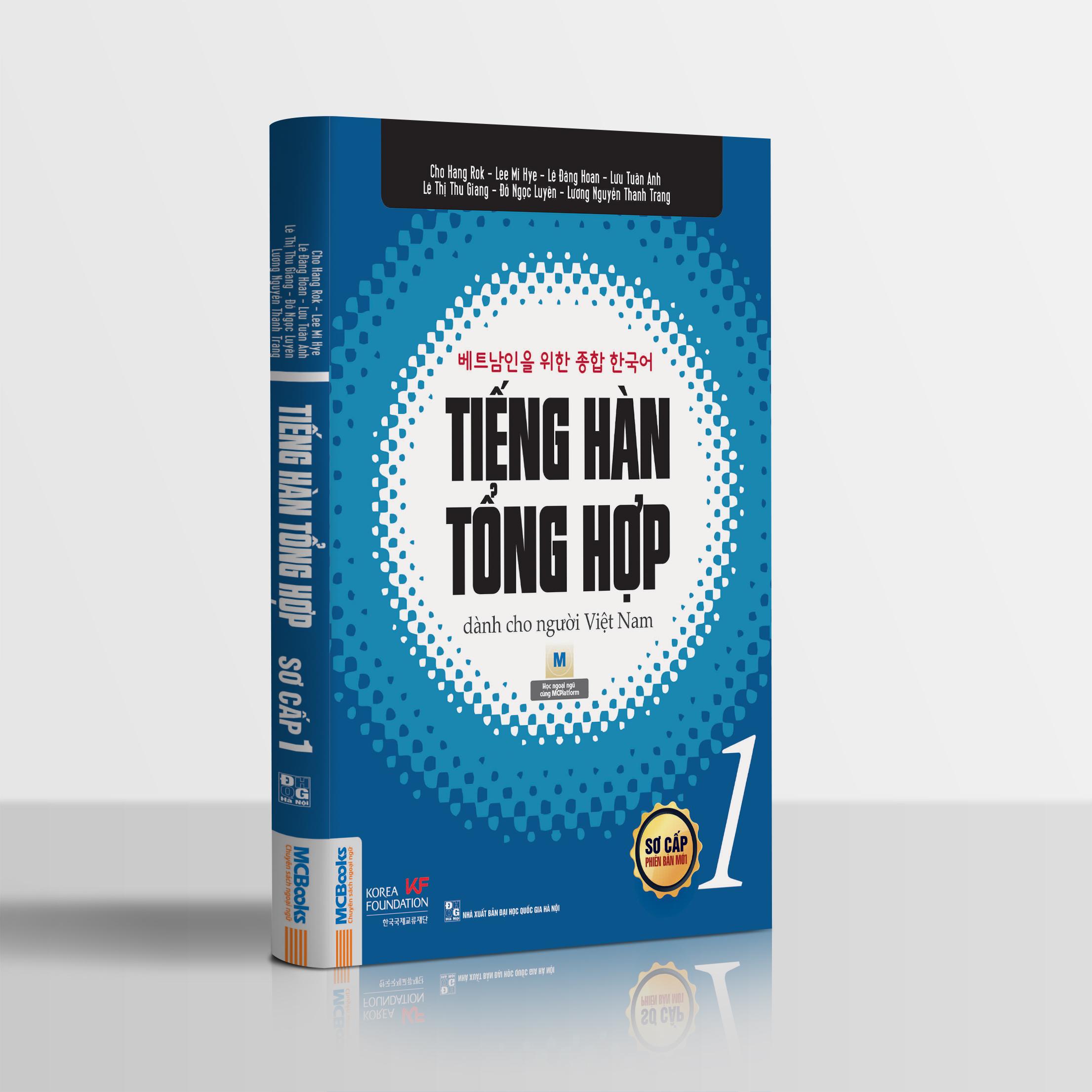 Combo Sách Tiếng hàn tổng hợp dành cho người Việt Nam - Sơ cấp 1 (Phiên bản 1 màu)