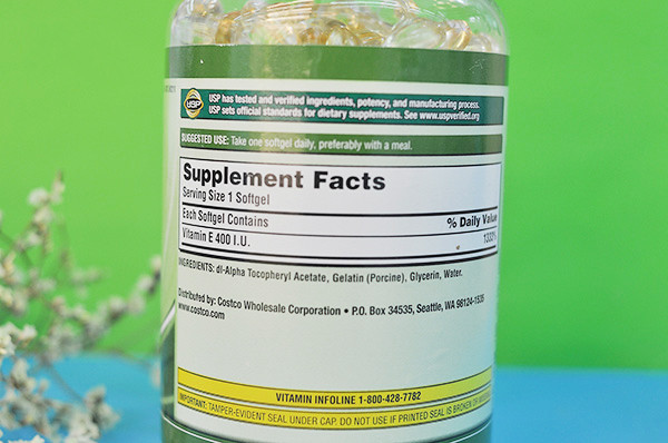 Thành phần chínhKirkland Signature Vitamin E 400 IU