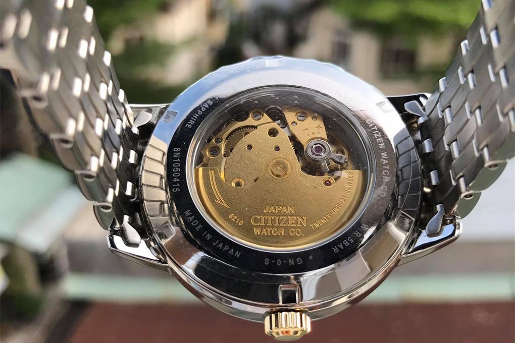 Đồng Hồ Nam Dây Kim Loại CITIZEN NJ0084-59A (42mm) - Bạc Viền Vàng