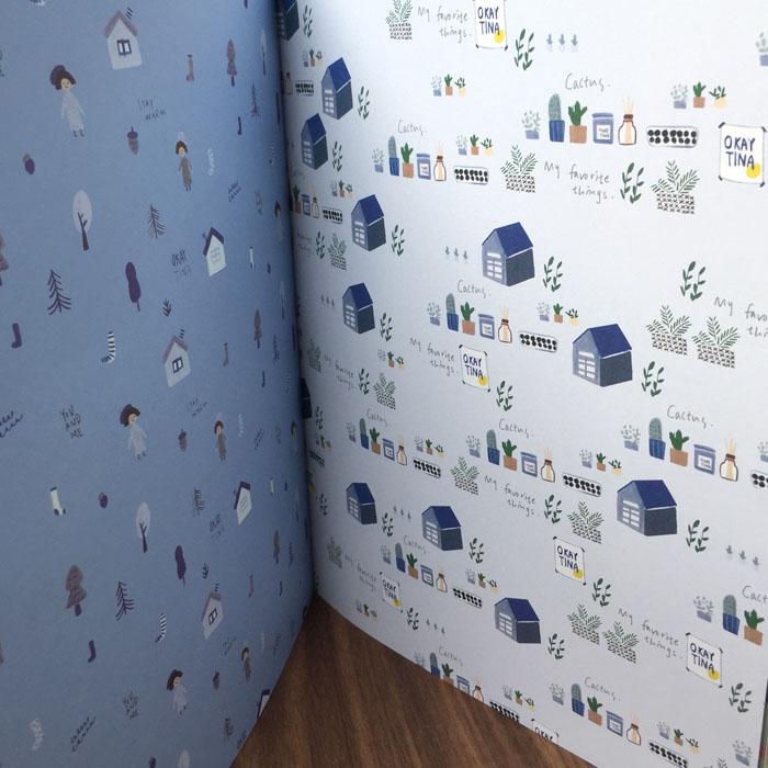 Tập Giấy Gói Quà Họa Tiết Dễ Thương Wrapping Paper Book 17-24A
