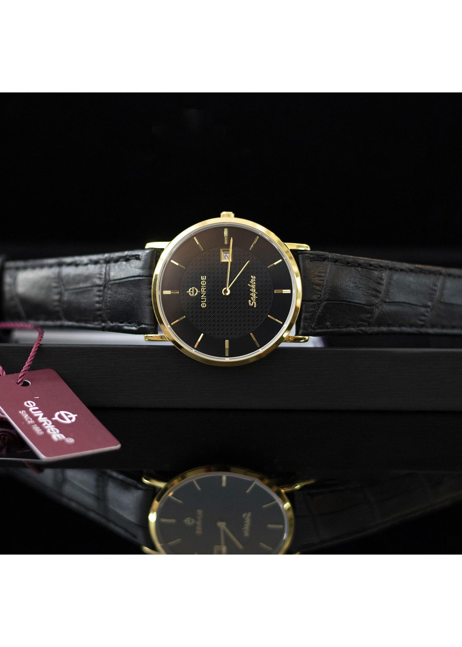 Đồng hồ nam Sunrise DM6929SWA [Full Box] - Kính Sapphire, chống xước, chống nước - Dây da cao cấp