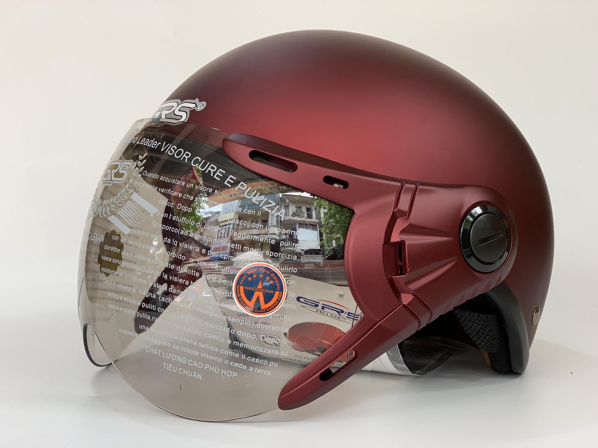 Mũ Bảo Hiểm Nửa Đầu Có Kính GRS A33