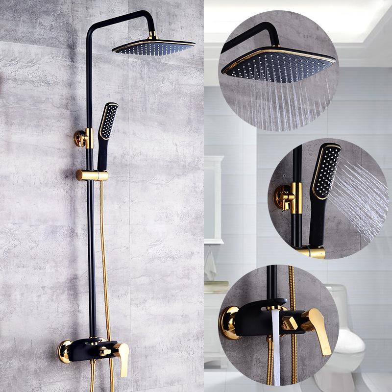 Bộ sen vòi tắm đứng cao cấp Tay vuông 3 vòi xoay thông minh