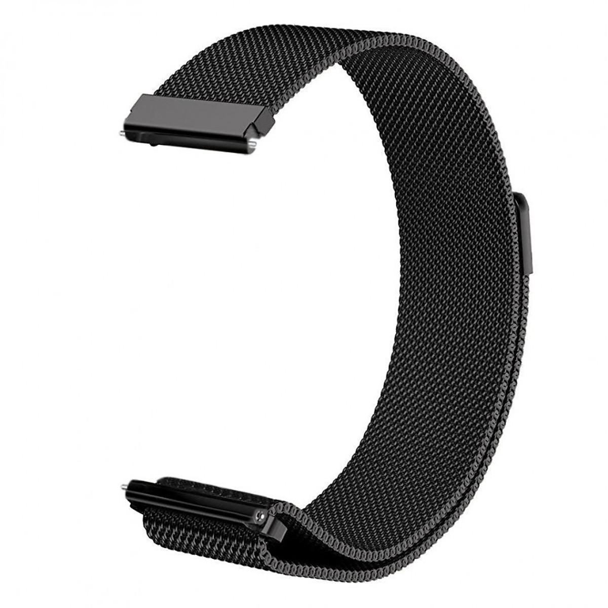 Dây đồng hồ 22mm lưới thép cho đồng hồ Gear Sport, Gear S3, S3Classic, Galaxy Watch 46mm - Đen -Hàng nhập khảu