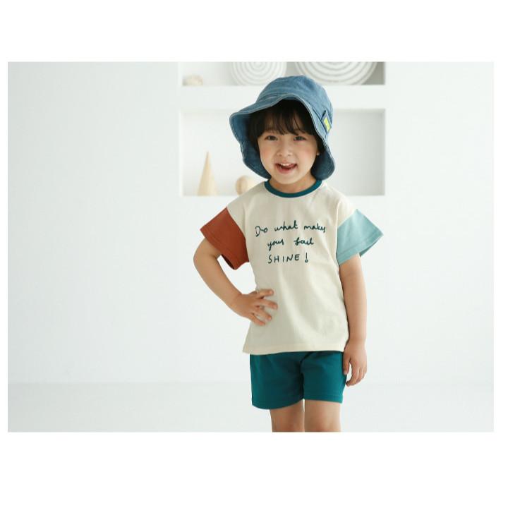 Bộ quần áo cộc tay bé trai bé gái - Maroon short sleeve set