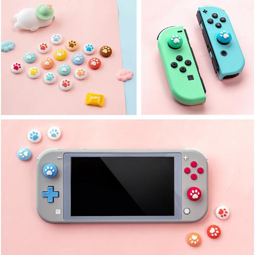 Nintendo Switch và lite set 4 núm bọc cần joycon analog giao mầu ngẫu nhiên