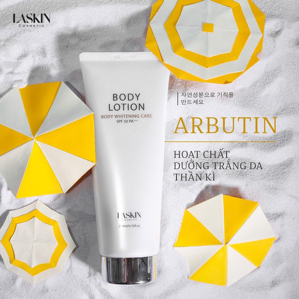 Laskin Body Lotion - kem dưỡng trắng da body Laskin 200ml