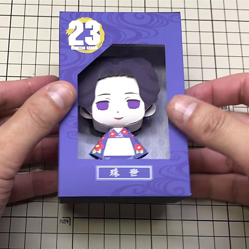 Mô hình giấy Anime Chibi Tamayo -Demon Slayer (Kimetsu no Yaiba) + kit mô hình hộp trang trí