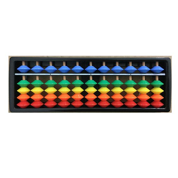 Mô hình 50 bàn tính gỗ 11 cột nhiều màu