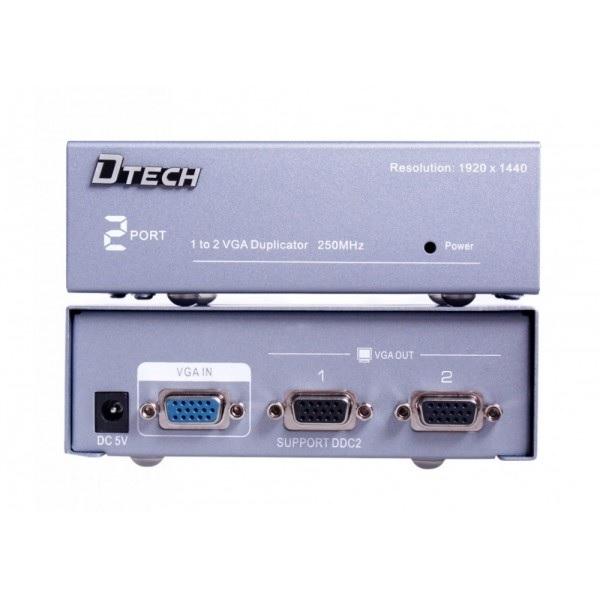 Bộ chia VGA 1 to 2 chính hãng DTECH (model DT-7252)