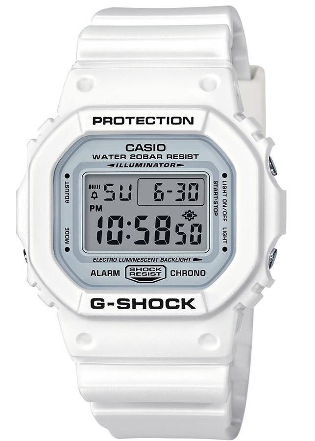 Đồng Hồ Nam Casio G-Shock DW-5600MW-7DR Anh Khuê Dây Nhựa Trắng - Mặt Vuông (42,8mm)
