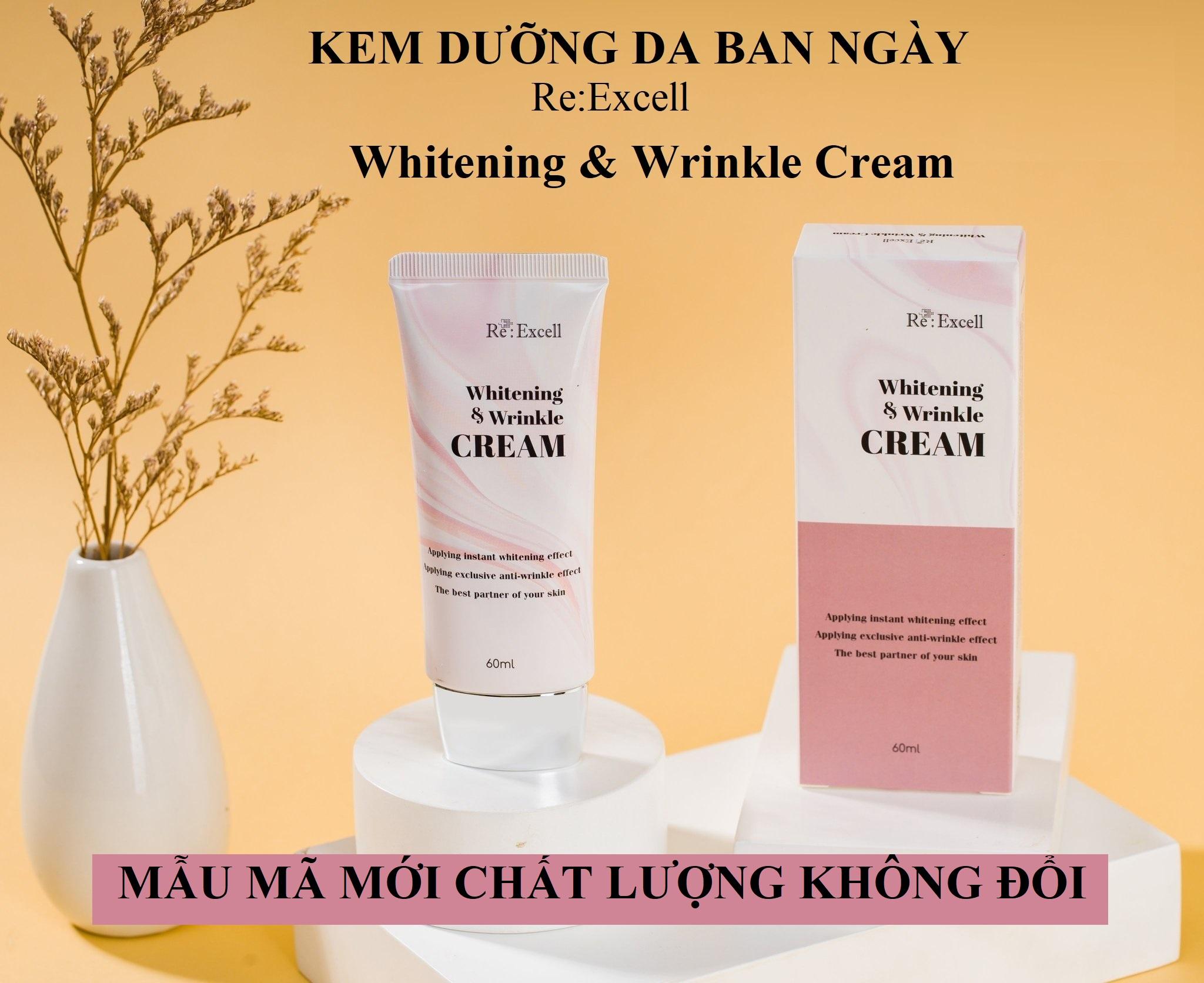Combo 5 hộp Kem dưỡng trắng chống nhăn Re:Excell Whitening & Wrinkle Cream R&B Việt Nam phân phối độc quyền sản phẩm nhập khẩu từ Hàn Quốc
