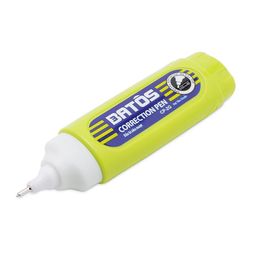 Bút xóa Batos CP-02G - Hộp 12 chiếc - Dung tích đủ 12ml, xóa nhanh khô, dễ sử dụng