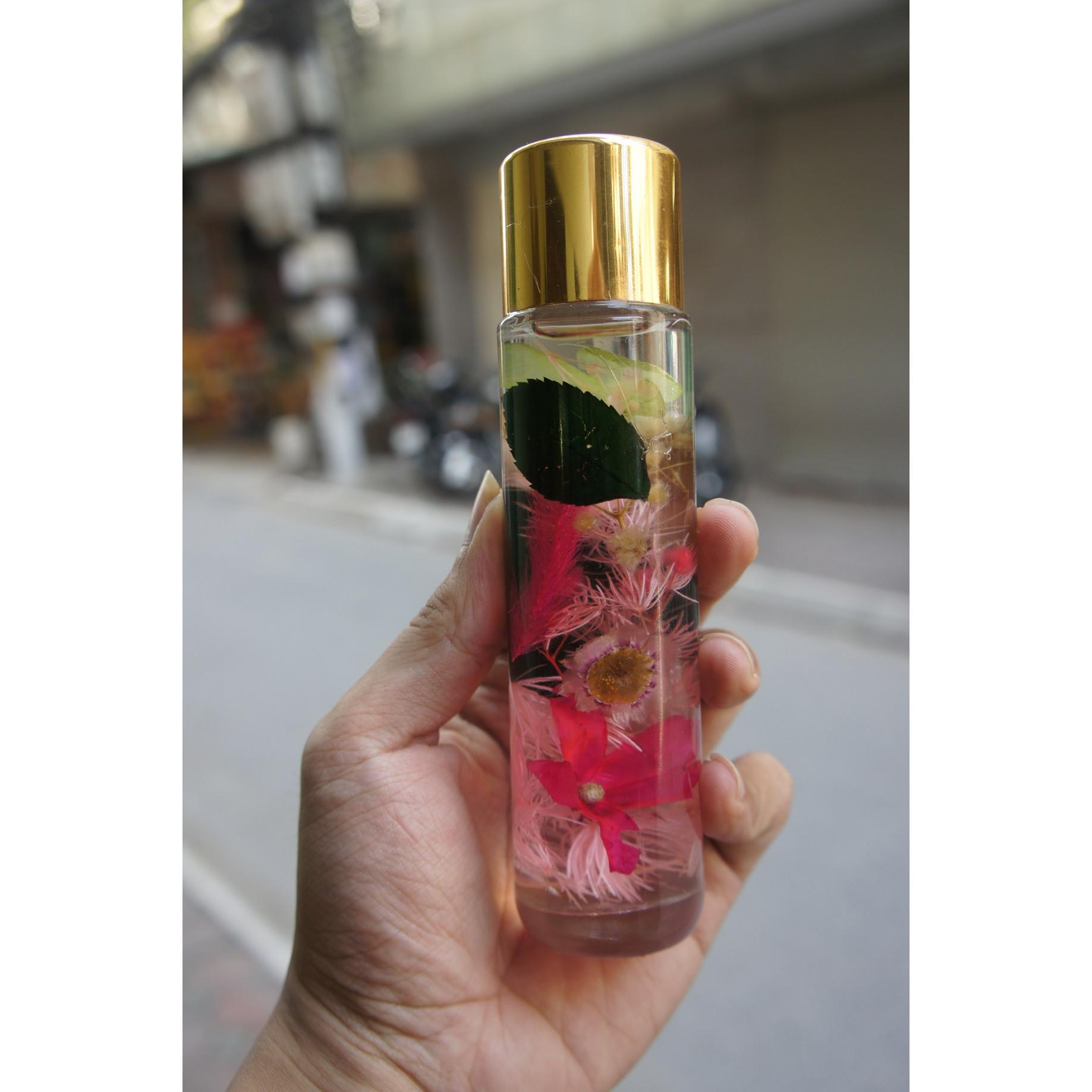 Herbarium-Lọ đựng hoa khô trong dầu
