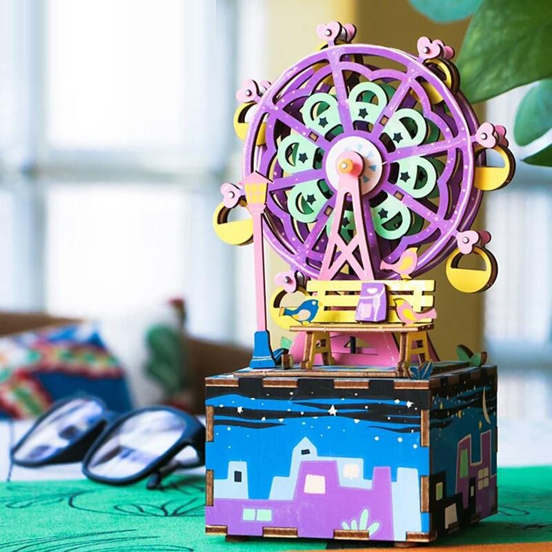 AM402 Ferris Wheel Music Box – Mô hình Hộp nhạc Vòng Đu Quay