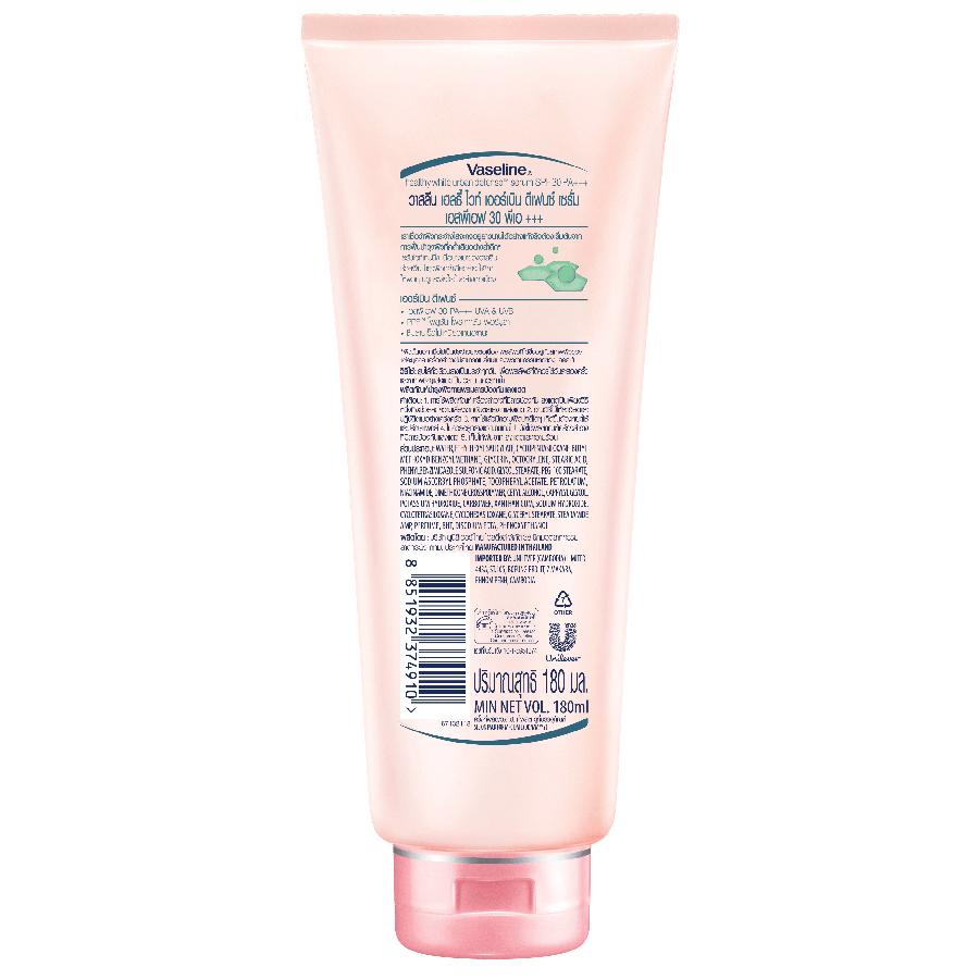 Tinh Chất Dưỡng Thể Trắng Da Chống Nắng Và Ô Nhiễm Môi Trường Vaseline Healthy White SPF 30 PA +++ (180ml)