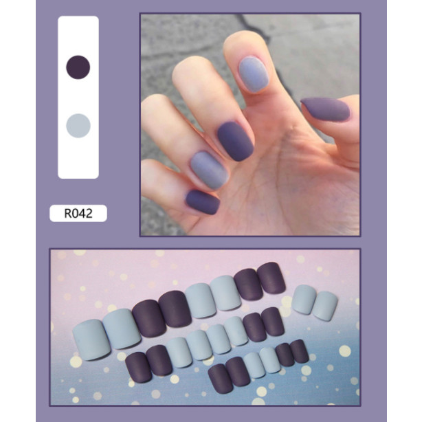 Bộ 24 móng tay giả nail thơi trang như hình (R-042)