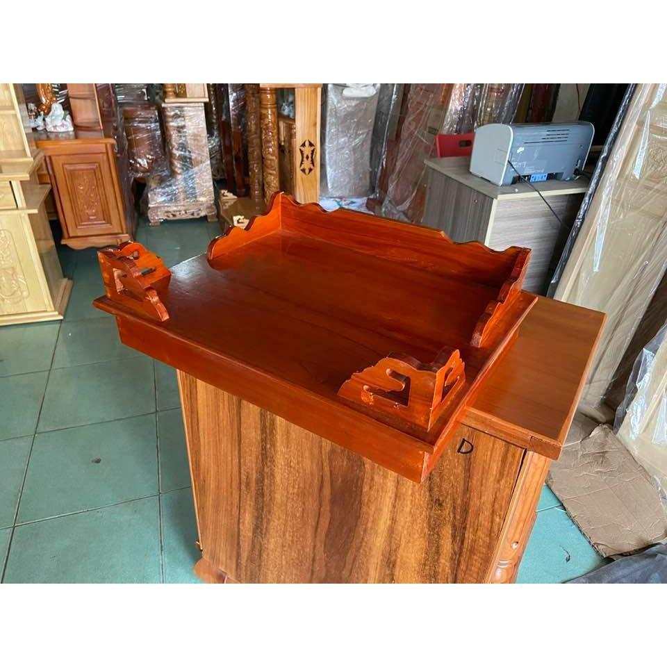 Bàn thờ treo tường 50cm có ke gỗ TTX50D