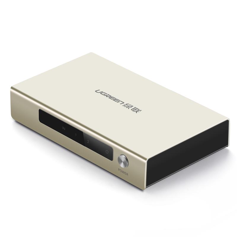 Bộ chia HDMI 1 ra 2 cổng hỗ trợ 4Kx2K full HD 1080P UGREEN 40276 - Hàng chính hãng