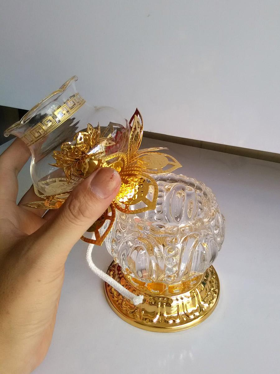 Cặp đèn trưng bàn thờ phú quý hợp kim size lớn PQL02-Hai chiếc
