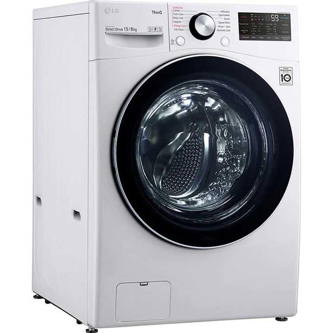 Máy giặt sấy LG AI DD 15 kg F2515RTGW lồng ngang- Hàng chính hãng-Giao tại HN và 1 số tỉnh toàn quốc