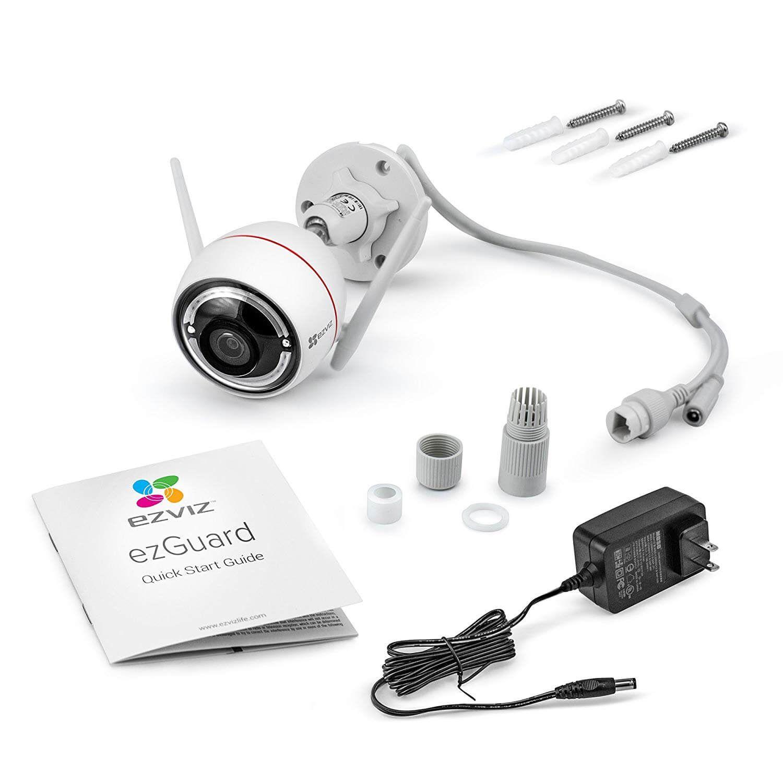 Camera IP Wifi ngoài trời EZVIZ C3W 2MP 1080P (CS-CV310-A0-1B2WFR) - Kèm thẻ nhớ NETAC 32GB - Hàng Chính Hãng