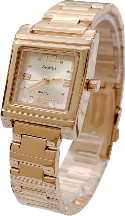 Đồng hồ nữ Skmei  1388 Kèm pin Nhật sẵn trong đồng hồ  Móc Khóa gỗ Đồng hồ 888 y hình  Hộp Chính Hãng - Màu hồng