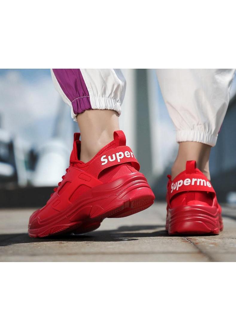 Giày thể thao sneaker nam đế cao siêu nhẹ phong cách Hàn Quốc - Đỏ - 43