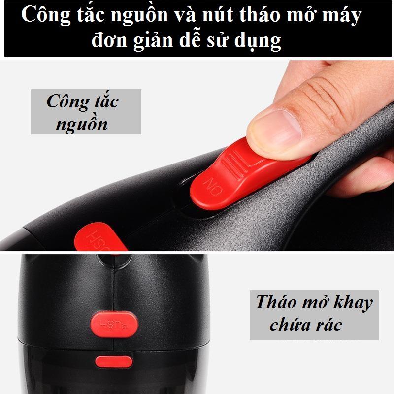 Máy hút bụi cầm tay CÓ DÂY cho xe hơi, oto, tẩu nguồn 12v