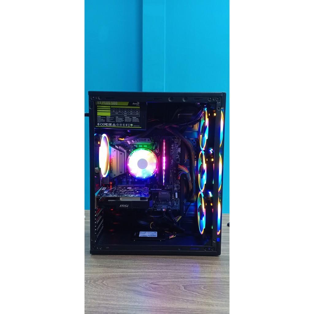 Máy Bộ Gaming cấu hình khủng i9-9900 ram8g tản led ssd120g main motar  nguồn 500