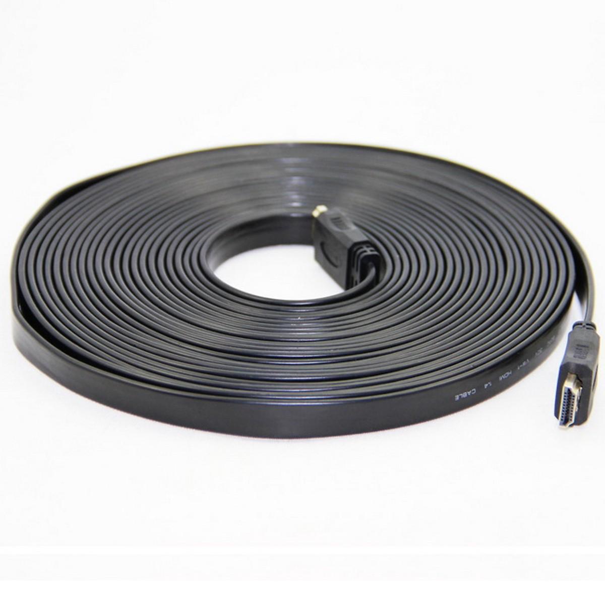 Cáp HDMI 10M dẹt dây đen KIWI