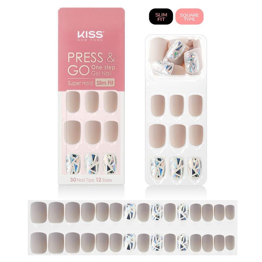Bộ 30 Móng Tay Gel Dán Press & Go Kiss New York Nail Box - Runway Prism (KPNS05K)