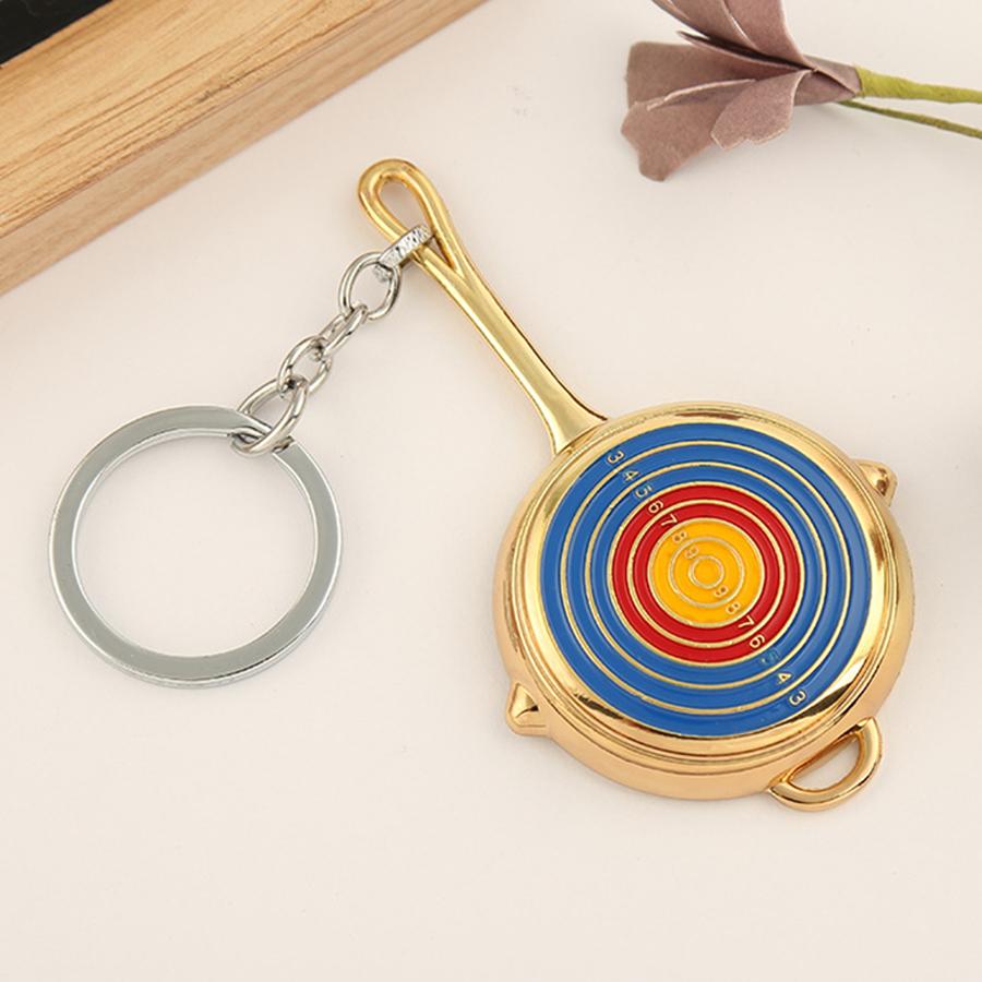 Móc khóa mô hình trong game PUBG - chảo target vàng