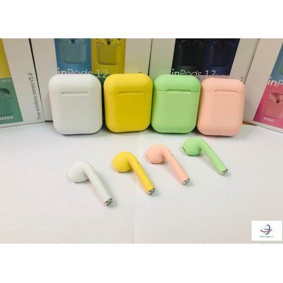 Tai nghe bluetooth inpodS 12 nhiều màu lựa chọn cảm biến vân tay