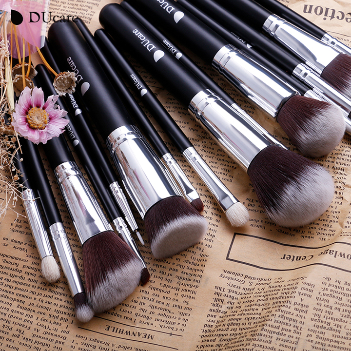 Bộ cọ trang điểm 15 cây DUcare 15Pcs Makeup Brushes Set Goat Hair
