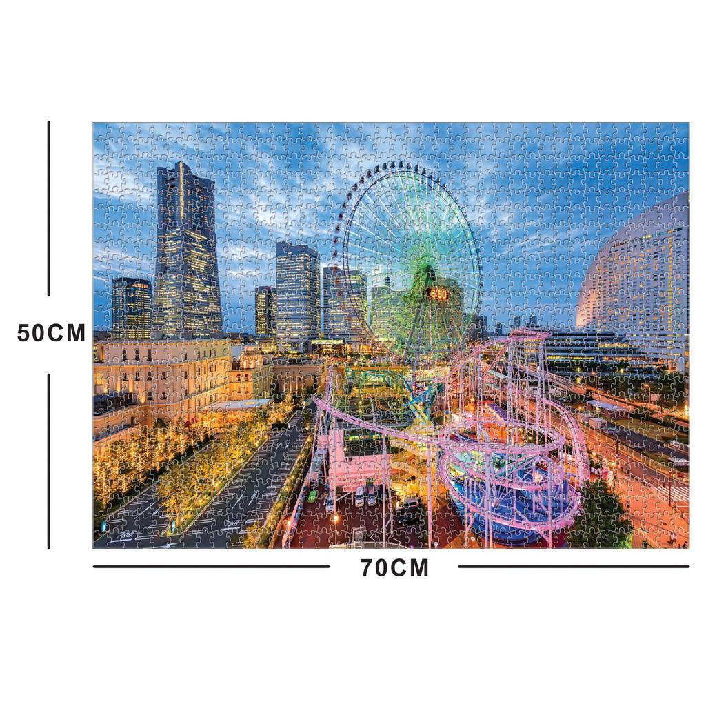 Bộ Tranh Ghép Xếp Hình 1000 Pcs Jigsaw Puzzle Ferris Wheel Cao Cấp