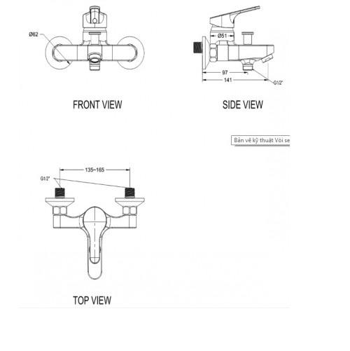 Vòi tắm sen nóng lạnh American Standard - Concept Round  WF-1411