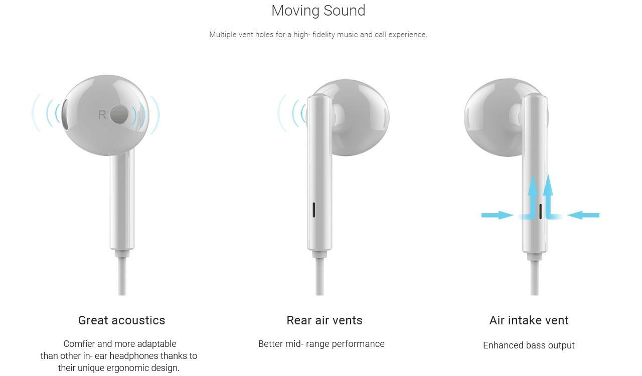 Tai nghe nhét tai eData Honor AM115 cho Smartphone hỗ trợ cổng 3.5mm - Hàng chính hãng