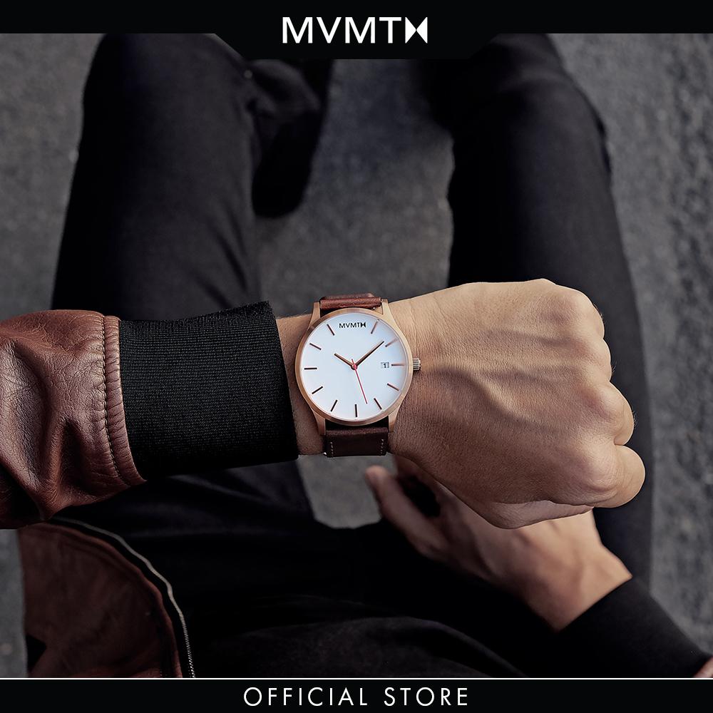 Đồng hồ Nam MVMT dây da 45mm - Classic D-MM01-WBR