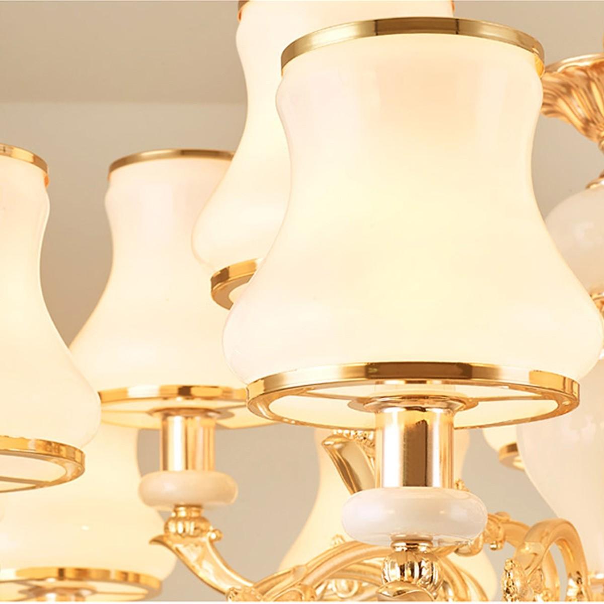 Đèn chùm phong cách Châu Âu hiện đại 8 tay tiết kiệm năng lượng